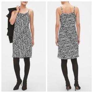 Banana Republic | Zebra Print Slip Shift Dress